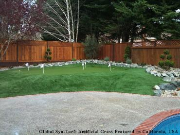 Fake Lawn Rancho Santa Fe, California Paver Patio, Beautiful Backyards artificial grass