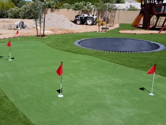 Synthetic Lawn Julian, California Outdoor Putting Green, Backyard artificial grass